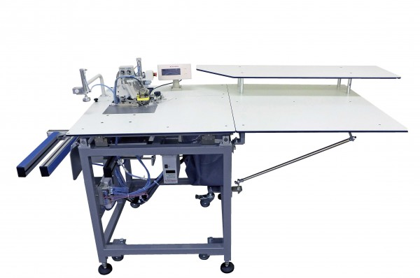 Automatic unit for serging operation